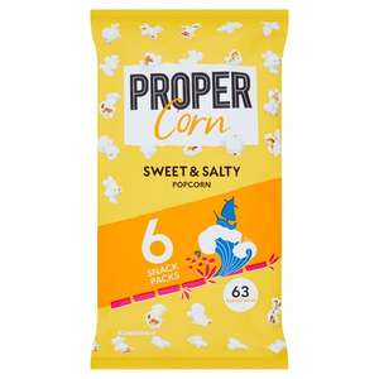 Propercorn Sweet & Salty Popcorn 6X14g £1 Clubcard Price @ Tesco