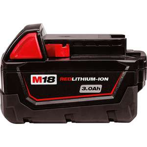 Milwaukee M18 18v Red Lithium Ion Battery 3.0Ah - £37.98 Delivered @ Toolstation