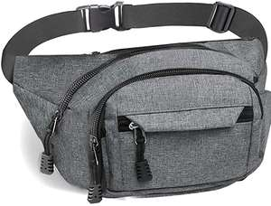 Gadom Bumbag Waist Bag Waterproof in Grey £5.31 prime / £9.80 nonPrime - Sold by Gadom-UK and Fulfilled by Amazon.