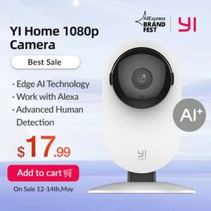YI Smart 1080p Wifi Home Indoor Security Camera £15.54 Delivered @ AliExpress / Yi Official Store