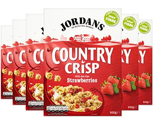 Jordans Country Crisp Strawberry   Breakfast Cereal   Vegetarian   6 PACKS of 500g £9.(+£4.49 NP) @ Amazon