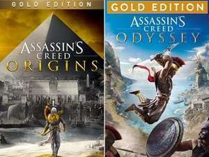 [PS4/PS5] Assassin's Creed Odyssey Gold Edition - £9.48 & Origins Gold - £8.13 @ Brazil PSN