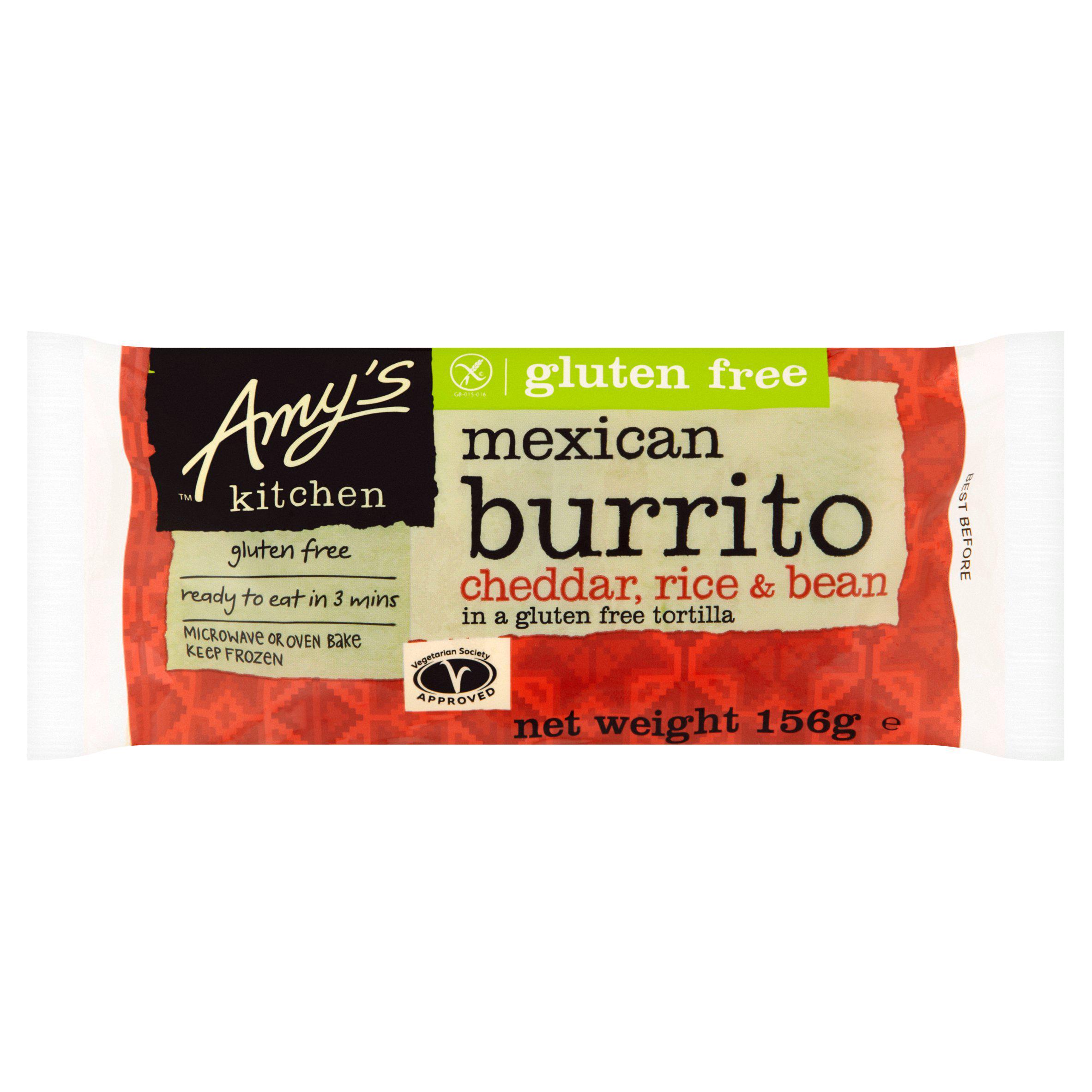 Amys kitchen beans and cheese burrito 170g - 80p at Asda Southampton