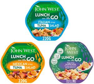 John West Light Lunch - Italian Style Tuna Salad / Thai Salmon / Mexican Style Tuna Salad - Buy 2 for £2.50 @ Morrisons