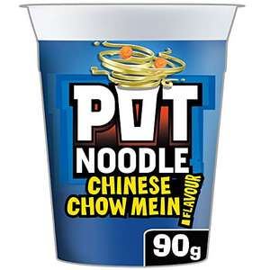 Pot Noodle Chow Mein 90g Pack of 12 - £6 (+£4.49 NP) @ Amazon