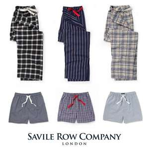 Savile Row Lounge Pants Now £14, or Lounge Shorts Now £10 using code + Free Delivery & Free Returns @ Savile Row