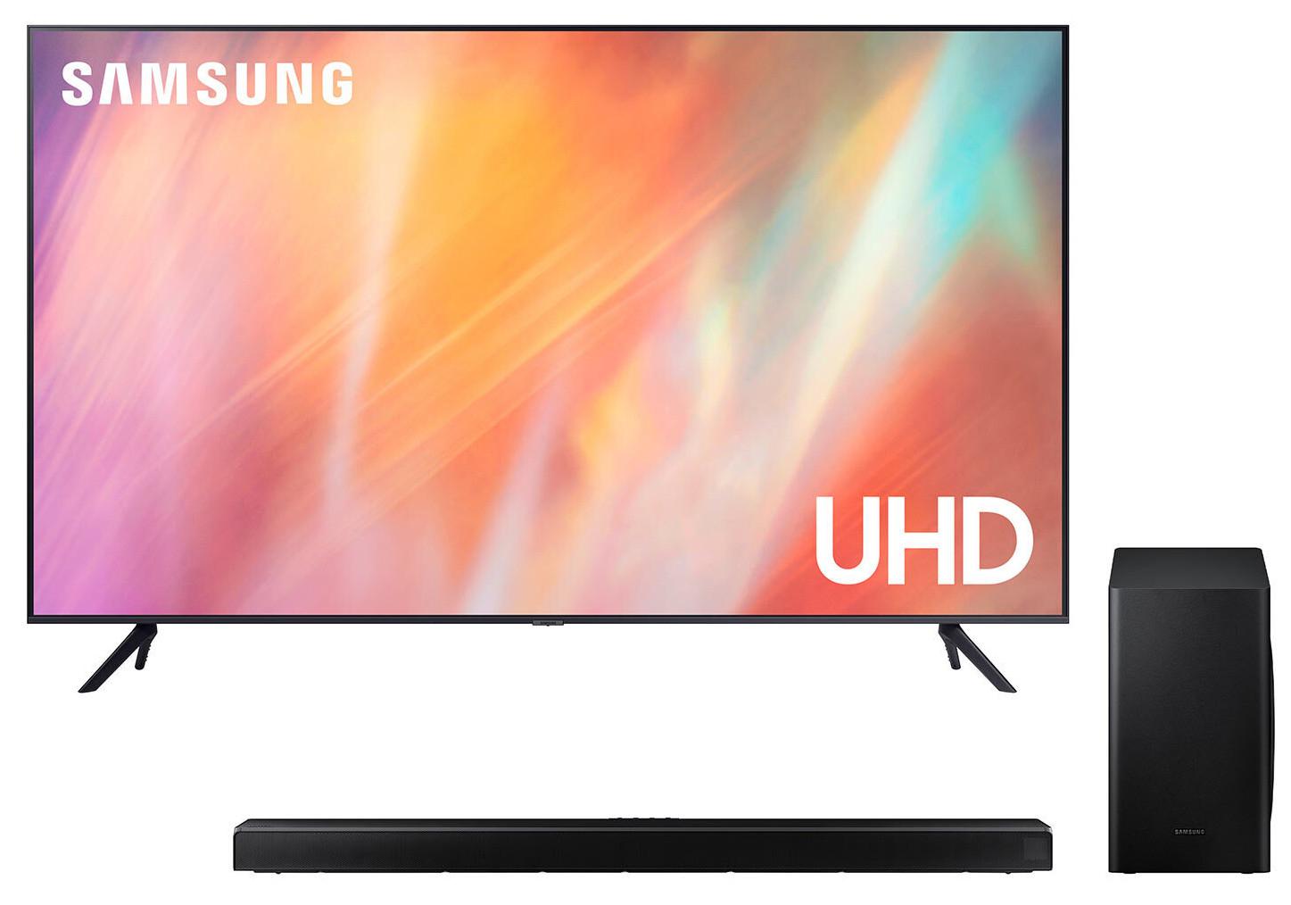 "Samsung UE70AU7100KXXU (2021) 70"" 4K UHD Smart TV + Samsung Q60T, 5.1Ch, 360W, Soundbar +Wireless Subwoofer - £898.99 delivered @ Costco"
