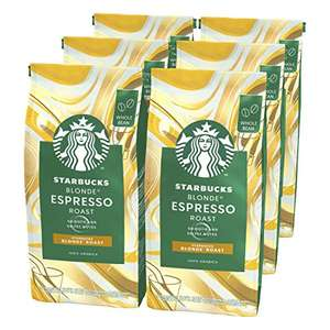 Starbucks Blonde Espresso Roast Coffee Beans 200g Bag (Pack of 6) £18 prime / £22.49 nonPrime / £12.60 with 15% off first S&S @ Amazon
