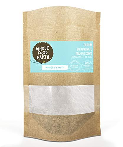 Wholefood Earth - Sodium Bicarbonate Baking Soda (500g) Aluminium Free GMO Free Vegan £1.35 (+£4.49 NP) short expiry date @ Amazon Warehouse