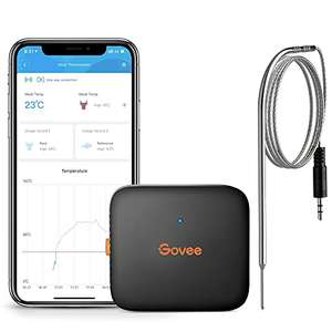 Govee Bluetooth meat cooking thermometer with probe with 70m wireless remote monitor for £12.59 Prime (+£4.49 non-Prime) @ Govee UK / Amazon