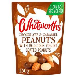 Whitworths Chocolate & Caramel Peanuts 130g £1 at Morrisons (Min Basket / Delivery Charge Applies)