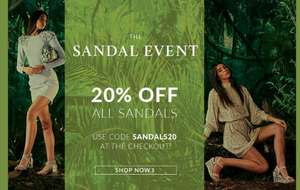20% off Full Priced Sandals + Free UK Mainland Delivery From Moda in Pelle
