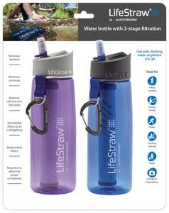 2 pack LifeStraw Go Water Bottle 22oz with Filter £36.24 (Purple/Blue) / £37.95 Grey/Clear @ Amazon