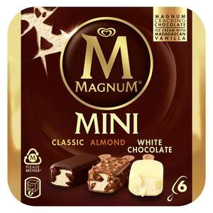 Magnum Mini Classic, Almond & White Ice Cream 6 x 55ml - £2.50 @ Morrisons
