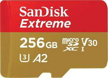 SanDisk Extreme 256GB MicroSD Card A2, U3, V30 - £34.45 @ Amazon