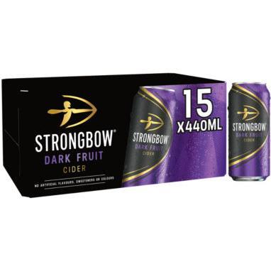 Strongbow Cider Dark Fruit Cider Cans 15x440 - £11.97 @ Asda