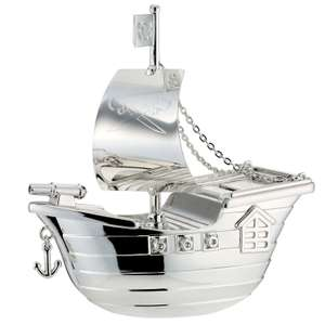 Childhood Memories Pirate Ship Money Box £19.99 - Free standard delivery at H Samuel