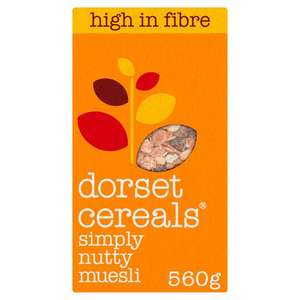 Dorset Cereals Simply Nutty Muesli 560G £2 with clubcard @ Tesco