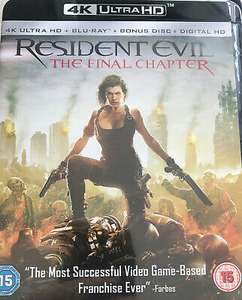 Resident Evil: The Final Chapter (4K Ultra HD + Blu-ray + Digital Download) - Very Good Condition £5.65 delivered @ thetradeinn08 / ebay