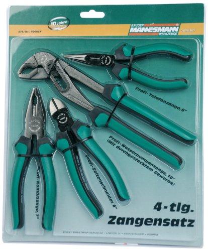 Mannesmann 10997 4-Piece Pliers Set - £13.41 delivered (+£4.49 Non Prime) @ Amazon