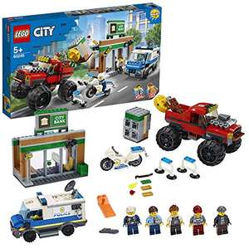 LEGO City 60245 Police Monster Truck Heist Building Set with Van, Motorbike, Bank, and Magnetic Brick £31.49 Amazon