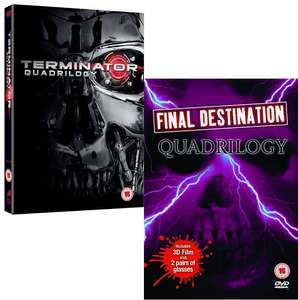 Terminator Quadrilogy dvd £4.94 / Final Destination Quadrilogy dvd (preowned) £4.04 delivered with code @ World of Books