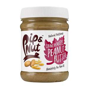 Pip & Nut Crunchy Maple Peanut Butter 225g - £1.45 with code at Holland & Barrett + £1.99 Click & Collect / £3.99 delivery