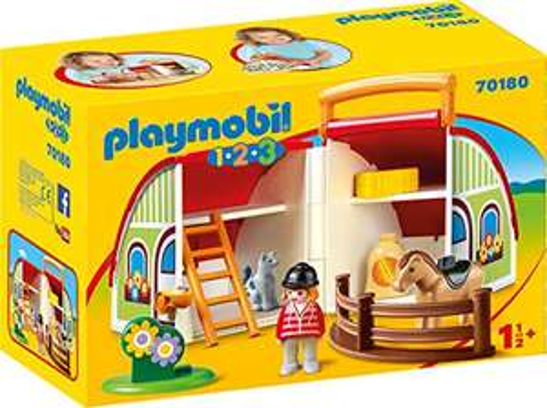 Playmobil 70180 1.2.3 My Take Along Farm for Children 18 Months+ £11.68 Amazon Prime / £16.17 Non Prime
