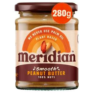 Meridian Peanut Butter 280g - Smooth or Crunchy £1.40 @ Sainsbury's