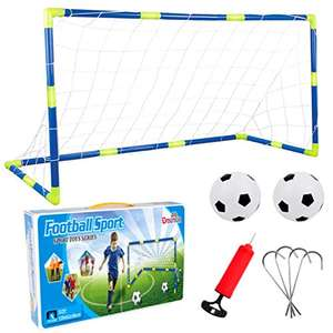 Dreamon children's football goal with net with pump and ball for £16.99 Prime delivered (+£4.49 non-Prime) @ Dreamon / Amazon