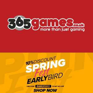 10% Discount On Selected Items Including Gaming, Toys, Home, Gifts & More @ 365games
