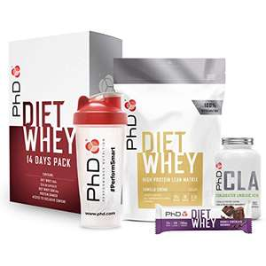 PhD Diet Whey, High protein, all in one Weight loss support starter set £14.53 (Prime) + £4.49 (non Prime) at Amazon