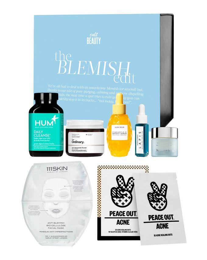The Blemish Edit Box - 60 capsules, 30ml, 20g, 15ml, 8ml, 1 mask £35 at Cult Beauty