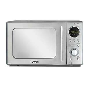 Tower KOR3000DSLT Digital Microwave with Dual Wave, Stainless Steel, 2-Plate, 800 W, 20 Litre, Silver £65.02 delivered at Amazon