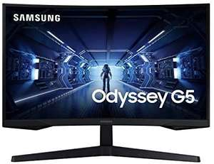 "Samsung Odyssey G5 27"" QHD (LC27G55TQWRXXU9) 1000R Curved Gaming Monitor £260 at Amazon"
