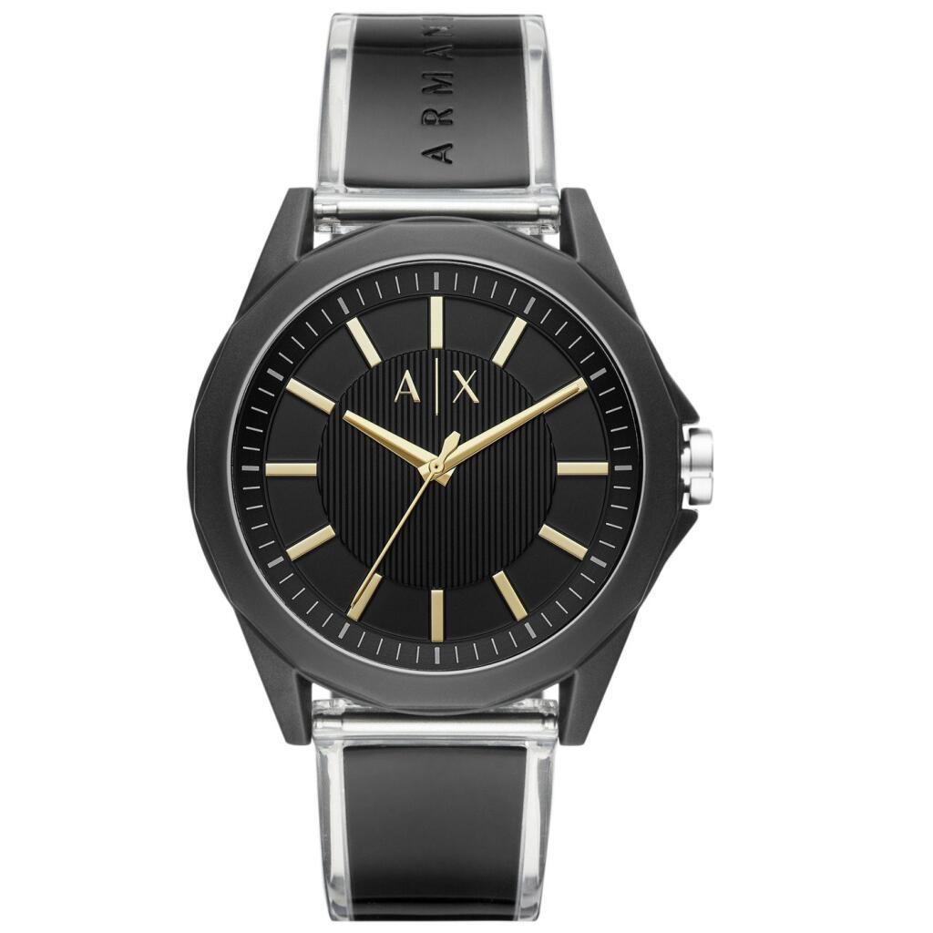 Armani Exchange Men's Black Silicone Strap Watch £39.99 click and collect @ Argos