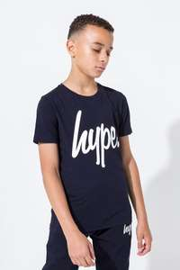 Hype navy script kids t-shirt delivered for just £8.09 @ Just Hype