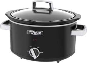 Tower T16018BL Stainless Steel 3.5L Slow Cooker with 3 Heat Settings - £10 (free click & collect) @ Robert Dyas