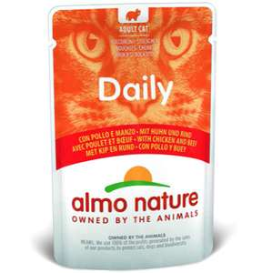 almo nature Daily Cat Food with Chicken and Beef, 70 g, Pack of 30 £9.15 prime / £13.64 non prime (£8.69 Subscribe & Save ) @ Amazon
