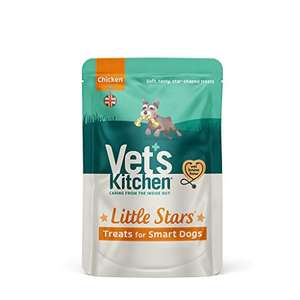 Vet's Kitchen - Smart Dog Treats - Little Stars Chicken - For All Breeds and Ages - 8 x 80g £5.65 prime / £10.14 non prime @ Amazon