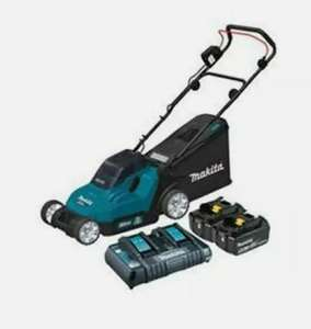 Makita DLM382CT2 36V Lawn Mower with 4 x 5.0Ah Batteries & Dual Charger £332.49 with code (UK mainland) at ebay / greasegorilla
