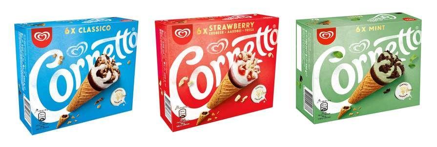 Cornetto 6 Strawberry or 6 Classico or 6 Mint Ice Cream Cones - £1.50 each @ Iceland