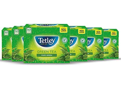 Tetley Pure Green Tea 50 Bags (Pack of 6) £4.09 (+£4.49 Non-Prime) @ Amazon