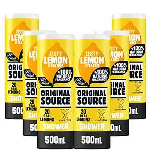 Original Source Shower Gel x 6 x 500ml from £10.50 + £4.49 Non Prime / £8.92 with voucher @ Amazon