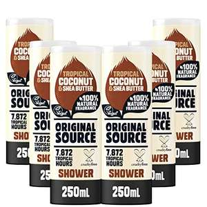 6 x original source shower gel (various scents - 250ml) for £6 (£4.50 via first subscribe and save order / +£4.49 non-prime) @ Amazon
