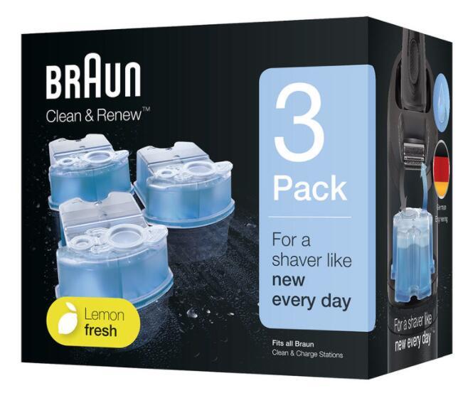 Braun Clean & Renew Cartridges, 3 Pack £7.99 (Membership Required) @ Costco