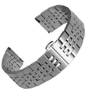 Pulteney Butterfly Stainless Steel Watch Strap Solid Links £10.50 with code (+£1.99 Delivery) @ Watch Gecko