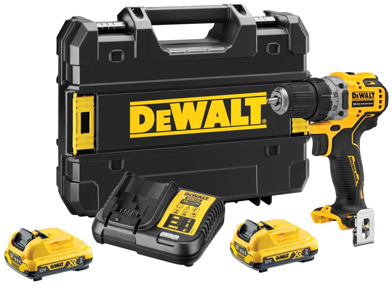 DeWalt DCD701D2 12V 2 x 2Ah XR Brushless Sub Compact drill driver - £128.25 with code @ FFX