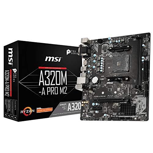 MSI A320M-A PRO M2 Motherboard 'mATX, AM4, DDR4, LAN, USB 3.2 Gen1, M.2, VGA, DVI-D, HDMI, 16M BIOS ROM, AMD RYZEN' £33.10 @ Amazon