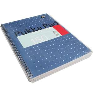Pukka Pad TS-180220 ERM009 Easy-Riter Metallic A4 Writing Pad, 80gsm, Pack of 3 - £3.86 (+£4.49 Non-Prime) @ Amazon